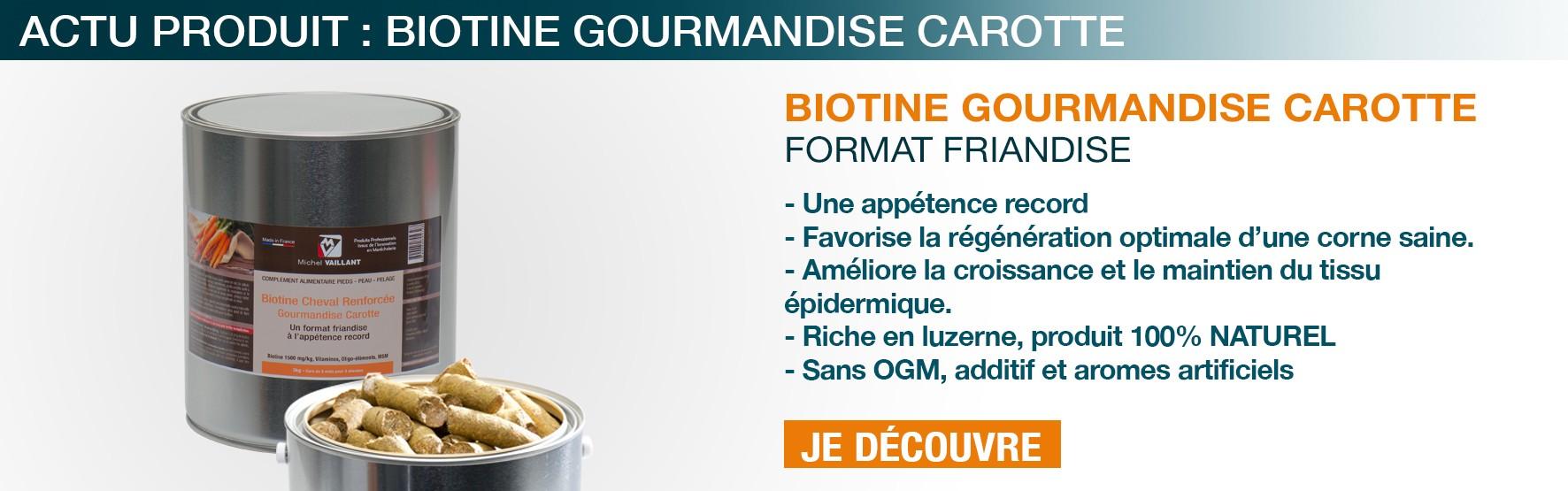 Biotine - soin - carotte - cheval - Friandise - Gourmandise - appétence - sabot