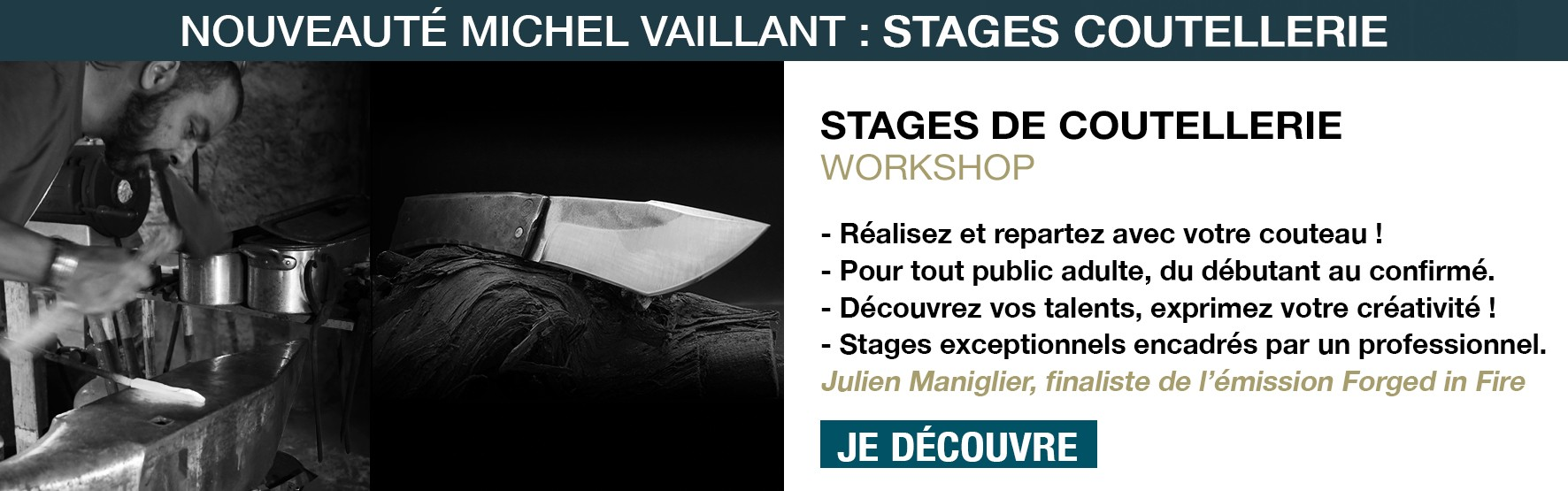 Forge - Stage - coutellerie - workshop - couteau - knife - formation